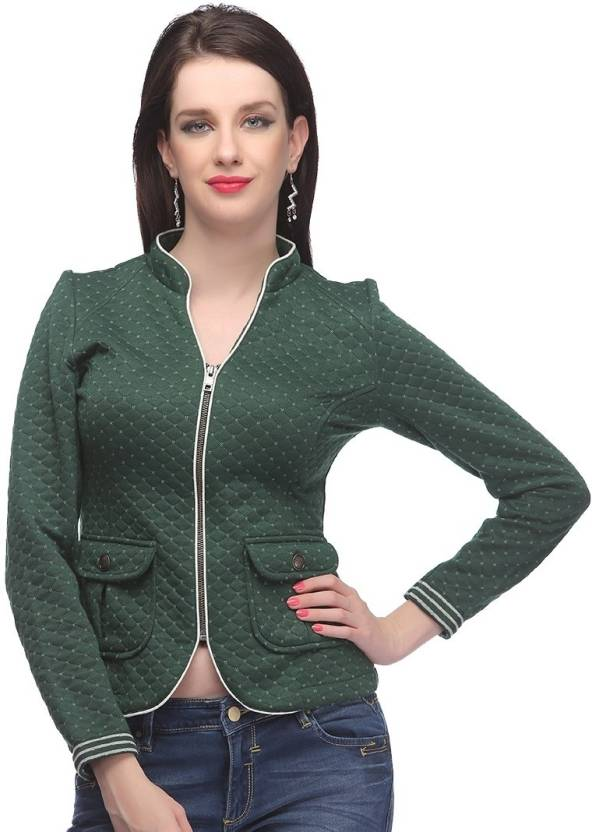 826c6886f63 Madame Full Sleeve Checkered Women s Jacket - Buy Green Madame Full Sleeve  Checkered Women s Jacket Online at Best Prices in India