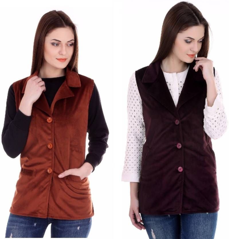 395f69ee70 MSE Sleeveless Solid Women's Jacket - Buy Multicolor MSE Sleeveless Solid  Women's Jacket Online at Best Prices in India | Flipkart.com