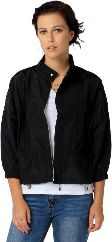 752ed54f9 Remanika Half Sleeve Solid Women's Jacket - Buy Black Remanika Half ...