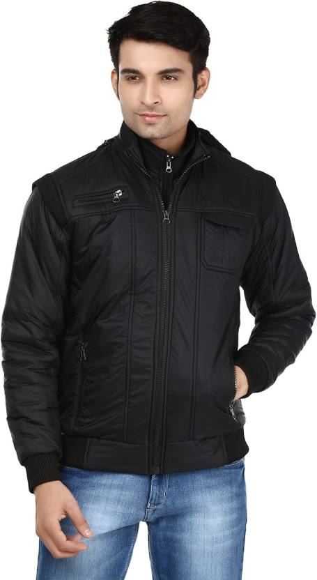 Ico Blue Star Full Sleeve Solid Mens Quilted Jacket