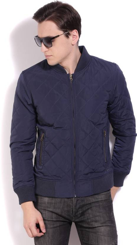 c770fc861 United Colors of Benetton Full Sleeve Solid Men s Quilted Jacket ...