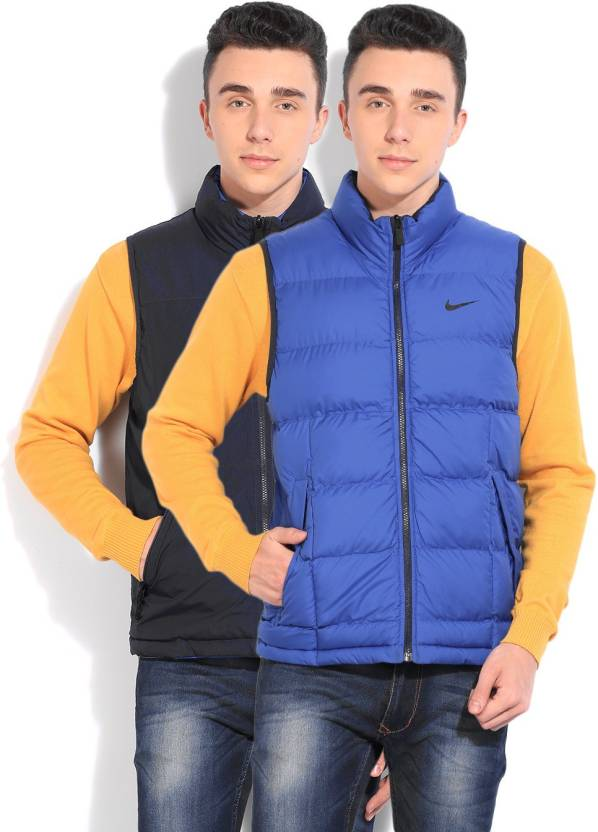 0a26378f14f9f Nike Sleeveless Solid Men s Jacket - Buy MNNAVY GAMERL GAMERL (GAMERL) Nike  Sleeveless Solid Men s Jacket Online at Best Prices in India