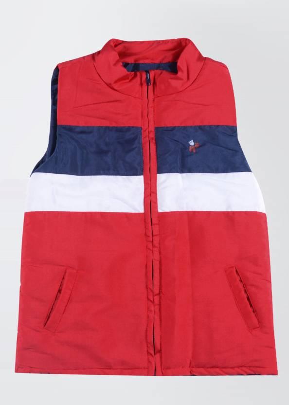 88220ad4b9e3 Nauti Nati Sleeveless Striped Baby Girls Jacket - Buy White