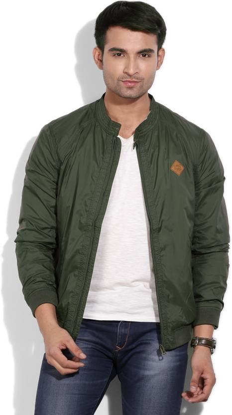 lowest price uk cheap sale wholesale Jack & Jones Full Sleeve Solid Men's Jacket - Buy Forest ...