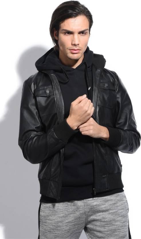 9271c98bee8c4 Jacqs Full Sleeve Self Design Men s Jacket - Buy Black Jacqs Full ...