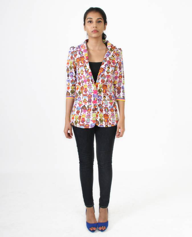 2e97f3668cc Quirk Box Printed Women s Bomber Jacket - Buy White Quirk Box Printed Women s  Bomber Jacket Online at Best Prices in India