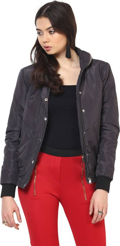 48cf42c9e8fd0 Yepme Full Sleeve Solid Women s Jacket - Buy Grey Yepme Full Sleeve Solid Women s  Jacket Online at Best Prices in India
