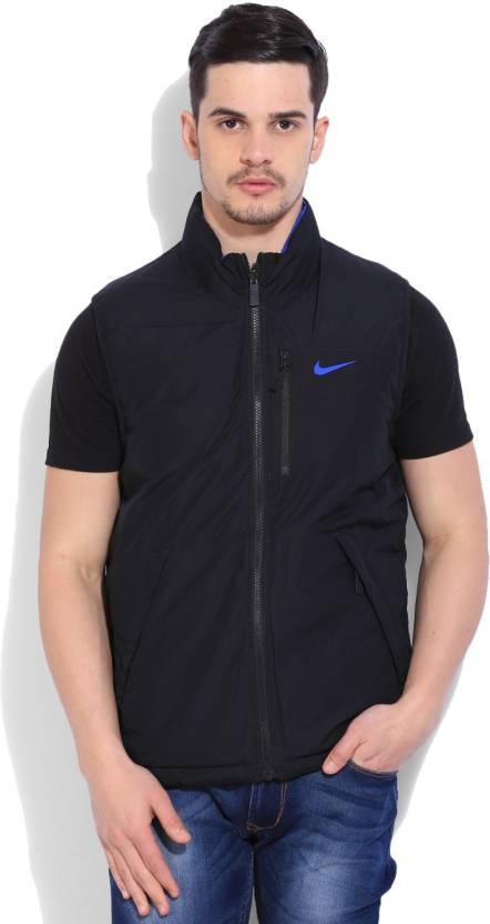 b6d2d3eb93163 Nike Sleeveless Solid Men s Puffer Jacket - Buy  BLACK GAMERL CTPURP (GAMERL) Nike Sleeveless Solid Men s Puffer Jacket  Online at Best Prices in India ...