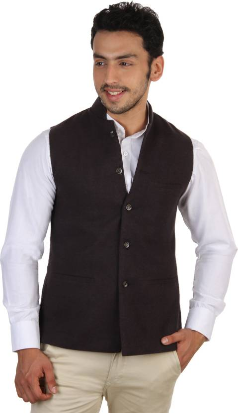 Platinum Studio Sleeveless Solid Men Nehru Jacket