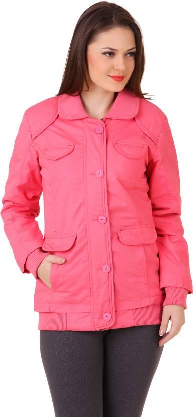 901137147 Juelle Full Sleeve Solid Women's Winter Wear Jacket - Buy Pink ...
