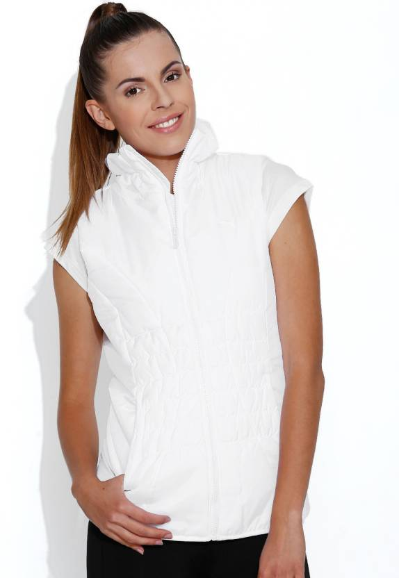 2362d73c019560 Puma Sleeveless Solid Women s Jacket - Buy White Puma Sleeveless Solid Women s  Jacket Online at Best Prices in India