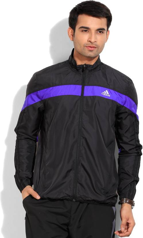 e98f56c5bfd9 ADIDAS Full Sleeve Solid Men s Sports Jacket - Buy Black