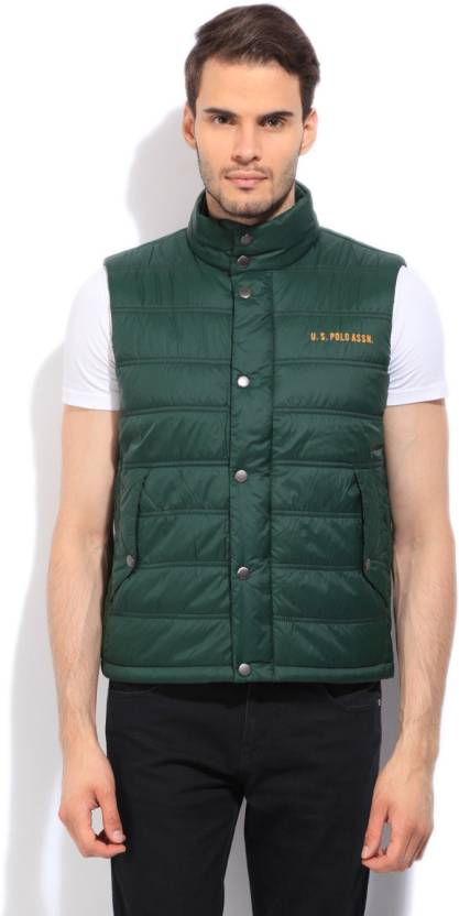 31163921 U.S. Polo Assn Sleeveless Solid Men's Quilted Jacket - Buy Green U.S. Polo  Assn Sleeveless Solid Men's Quilted Jacket Online at Best Prices in India  ...