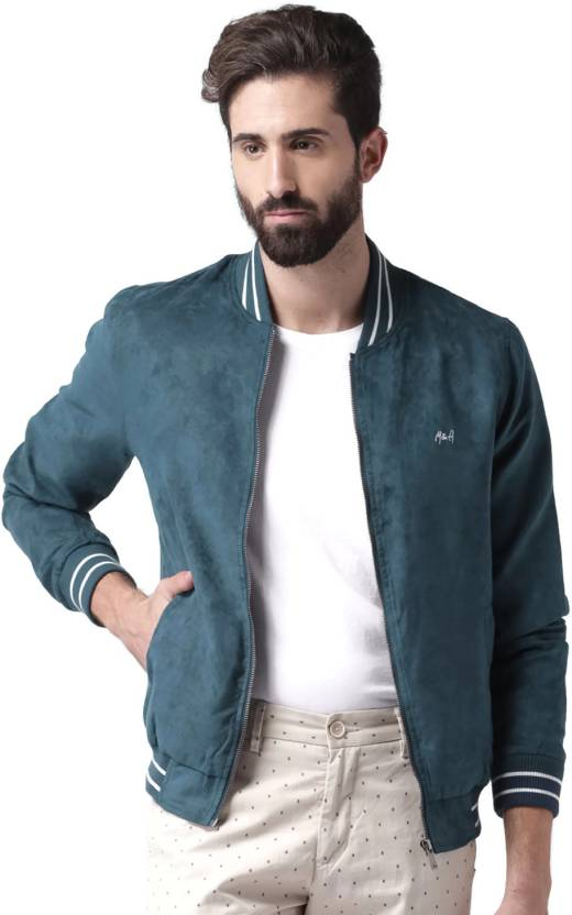 95e79db0a Mast & Harbour Full Sleeve Solid Men's Jacket