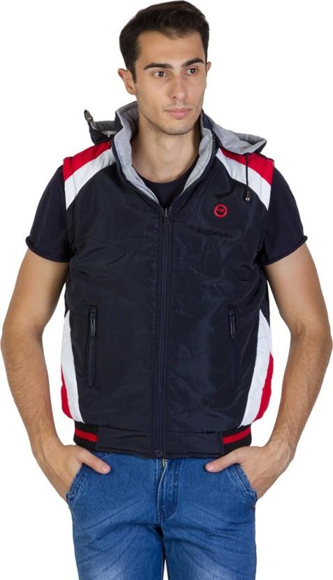 Burdy black sleeveless nylon casual jacket