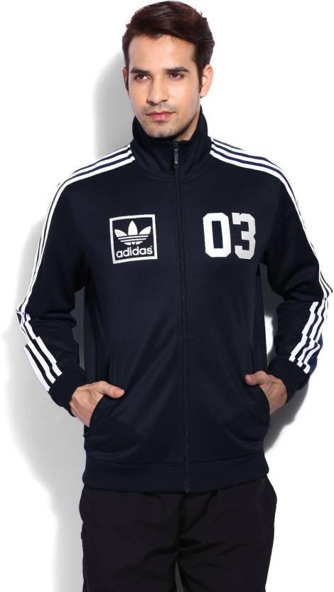 243b4735559 ADIDAS Full Sleeve Printed Men s Jacket - Buy CONAVY ADIDAS Full ...