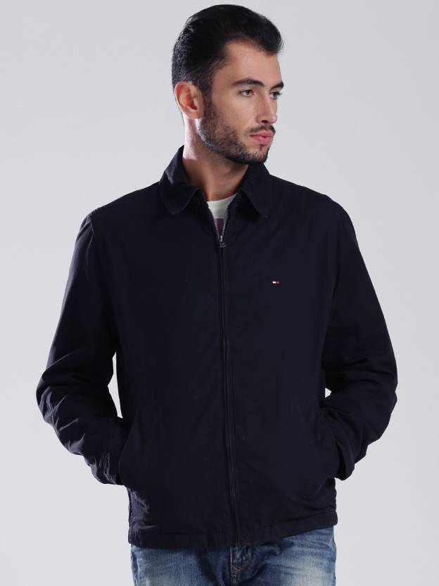 Tommy Hilfiger Full Sleeve Solid Men S Jacket Buy Dark Blue Tommy