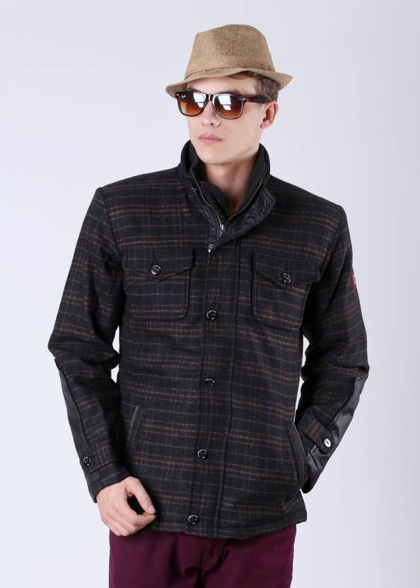 e425cf85a3b Proline Full Sleeve Checkered Men s Jacket - Buy Brown
