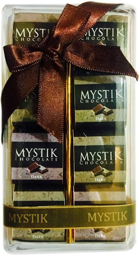 Mystik Premium Crackle Flavour Dark Chocolate Gift Box (8 Pc