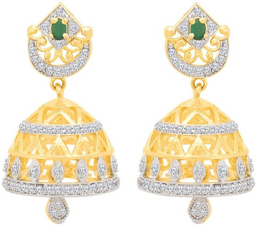 a56b16c26 Flipkart.com - Buy Voylla Classic Jhumka Earrings Cubic Zirconia Brass  Jhumki Earring Online at Best Prices in India