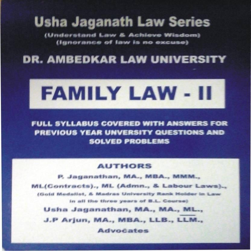 FAMILY LAW -II (Dr  Ambedkar Law University Syllabus) By Usha