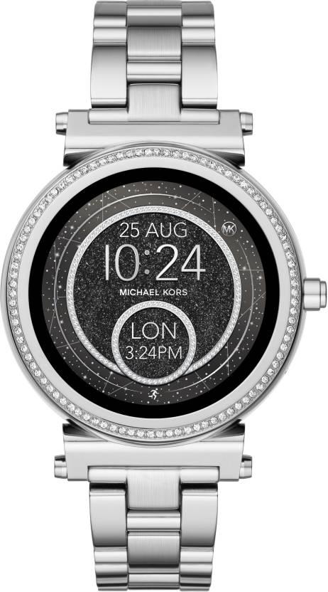 e65bee1b6e85 Michael Kors Sofie Silver Smartwatch Price in India - Buy Michael ...