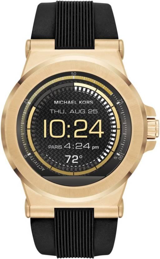 5f4ec72aca0d Michael Kors Access Touch Screen Black Smartwatch (Black Strap Regular)