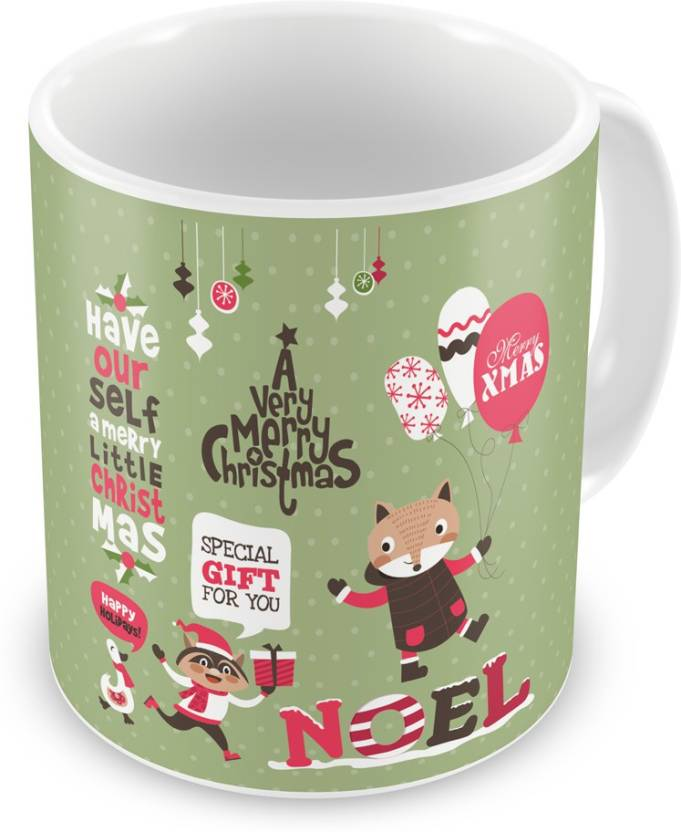 Indi ts A Very Merry Christmas Quote Ceramic Mug Price in