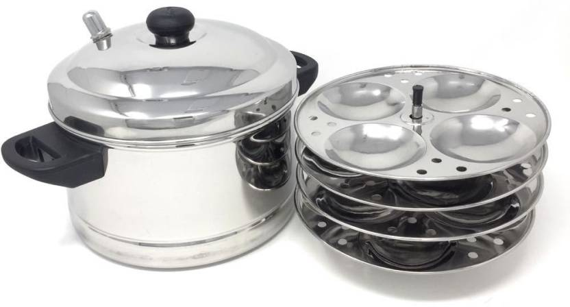 Premium 4-Plates Idly Cooker Induction & Standard Idli Maker