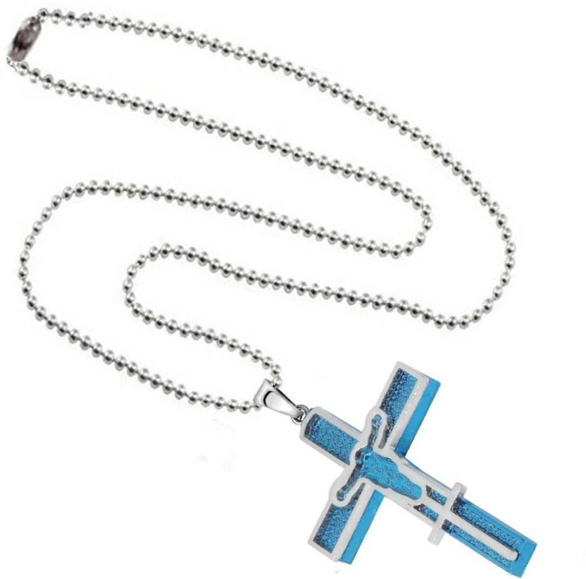 dd3302007ca Men Style Christams Gift Crucifix jesus cross christian Jewellery Sterling  Silver Stainless Steel Pendant Set Price in India - Buy Men Style Christams  Gift ...