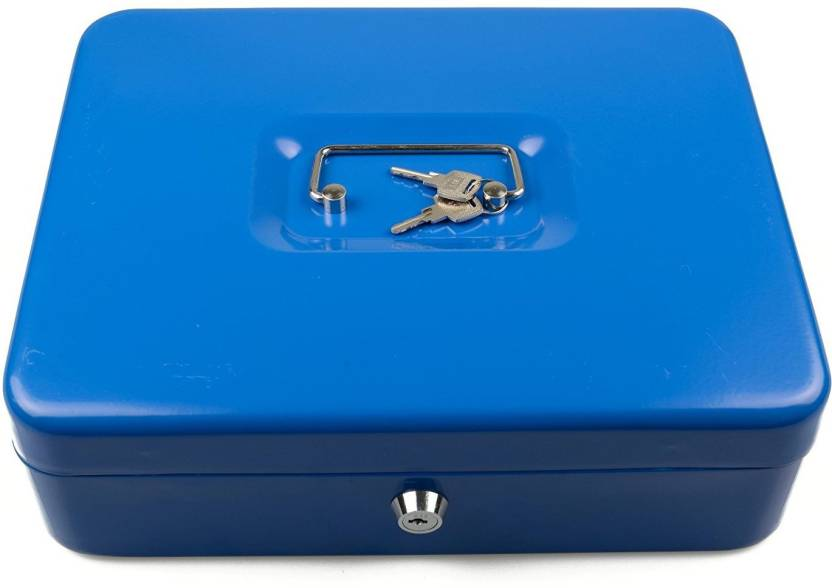 sukot large cash locker security key lock cash box petty cash holder