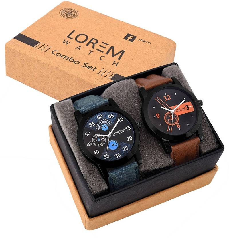 LOREM Attractive Stylish Combo Watch - For Men