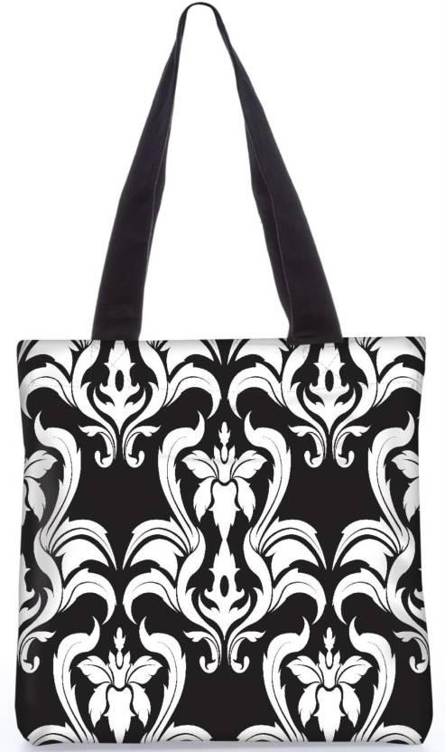 85ebb2b0c733 Snoogg Indian Pattern Poly Canvas Fashion Handbag Shopping Shoulder Lunch  Tote Bag For Women 22815 Shoulder