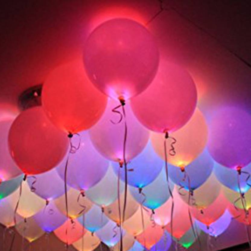 Flipkart Com Party Propz Solid Led Balloon For Christmas Party