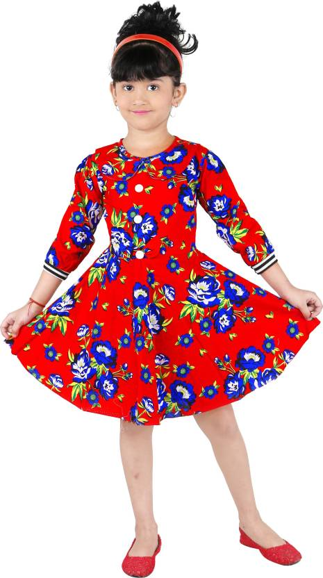 c322566b4788 stylokids Girls Midi Knee Length Casual Dress Price in India - Buy ...