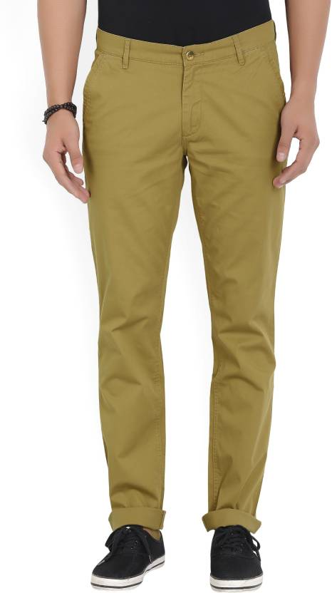 John Players Slim Fit Men's Brown Trousers