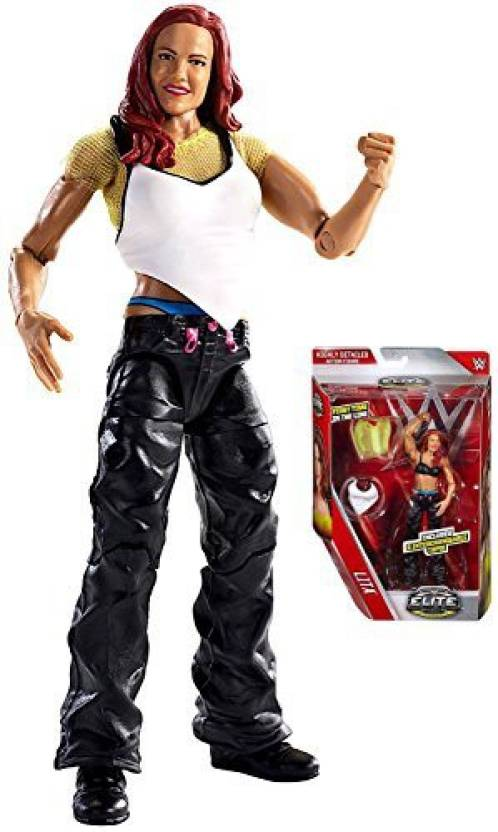WWED Wwe Elite Collection First Time In Line Lita With Interchangeable Tops Action Figure 6
