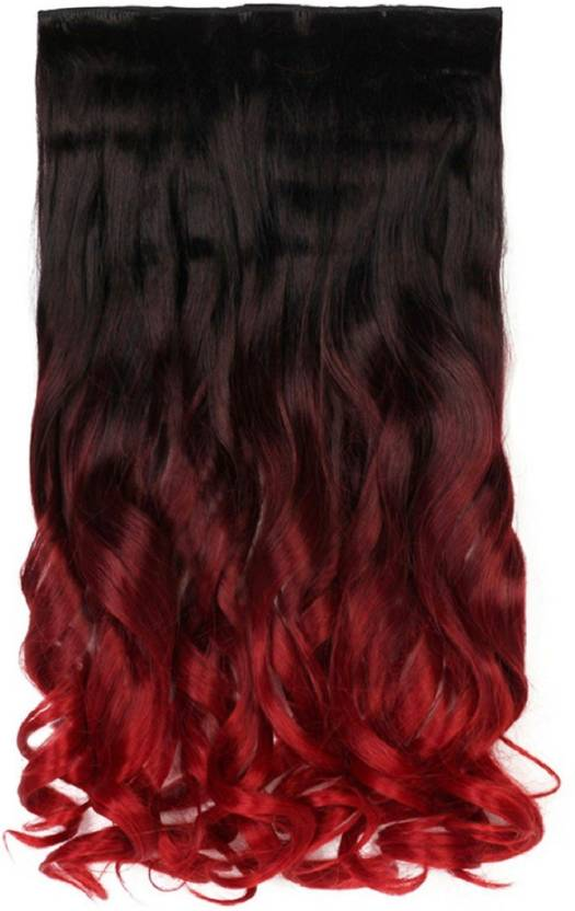 Haveream Wine Red Curly Clip In Hair Extension Price In India Buy