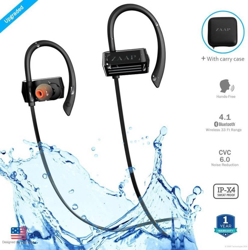 b8e2fc51641 Zaap AQUA ACTIV Bluetooth Headset with Mic Price in India - Buy Zaap ...