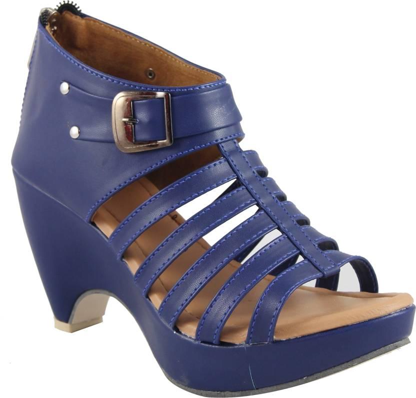 2e9b963ad Cute Fashion Women Blue Heels - Buy Blue Color Cute Fashion Women Blue  Heels Online at Best Price - Shop Online for Footwears in India
