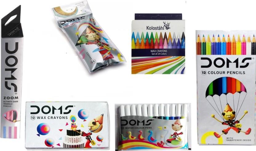 For Kids Doms Aqua Water Colour Pencils 12 Pcs Free Shipping