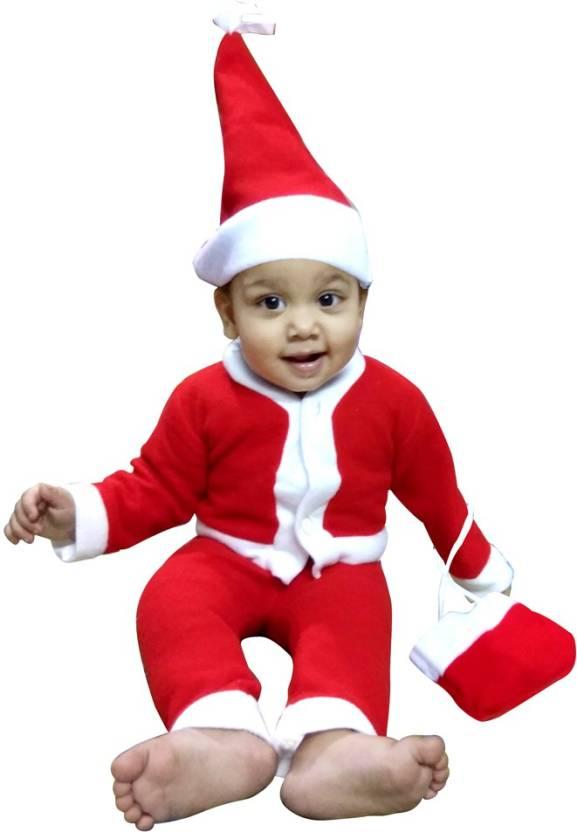 kavya creation christmas santa claus dress for boys age 0 10 month xmass