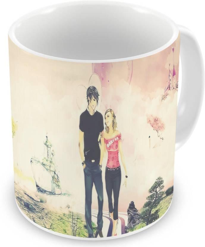 Factorywala Love Couple Walking Coffee/Tea Unique Gift for