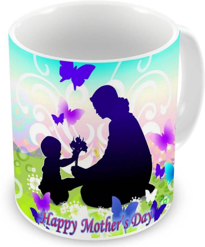 Factorywala Happy Mothers Day Photo Printed Beautiful Coffee Unique Gift For Mom On Mummy Birthday Ceramic Mug 330 Ml