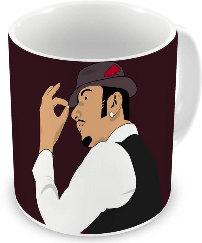 Factorywala Honey Singh Cartoon Print Coffee Birthday Gift Gift For