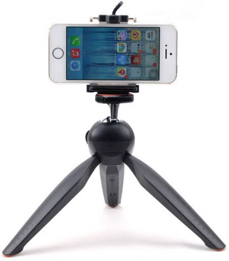 Mobilegear YunTeng YT-228 Mini 7 Inch with 360° Rotating Ball Head for Smartphones & Digital Camera Tripod (Black, Supports Up to 1000 g)