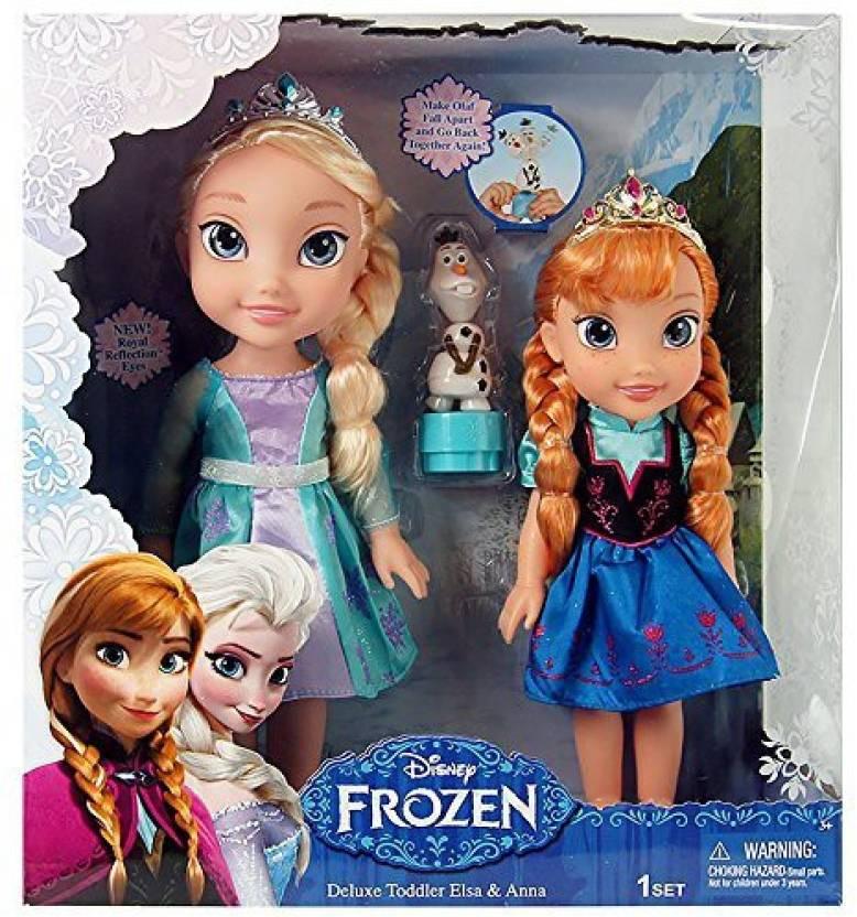 Jakks Pacific Disney Frozen Deluxe Toddler Elsa And Anna Dolls (Multicolor) 6d2c15851133