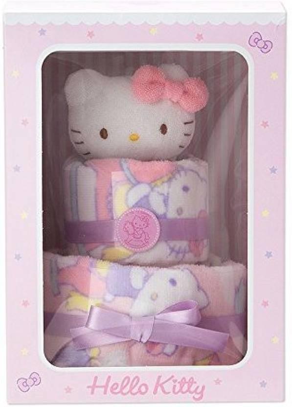8372d8431 Sanrio Hello Kitty Baby Towel Cake Set Disney Baby Accessories Series  (Multicolor)