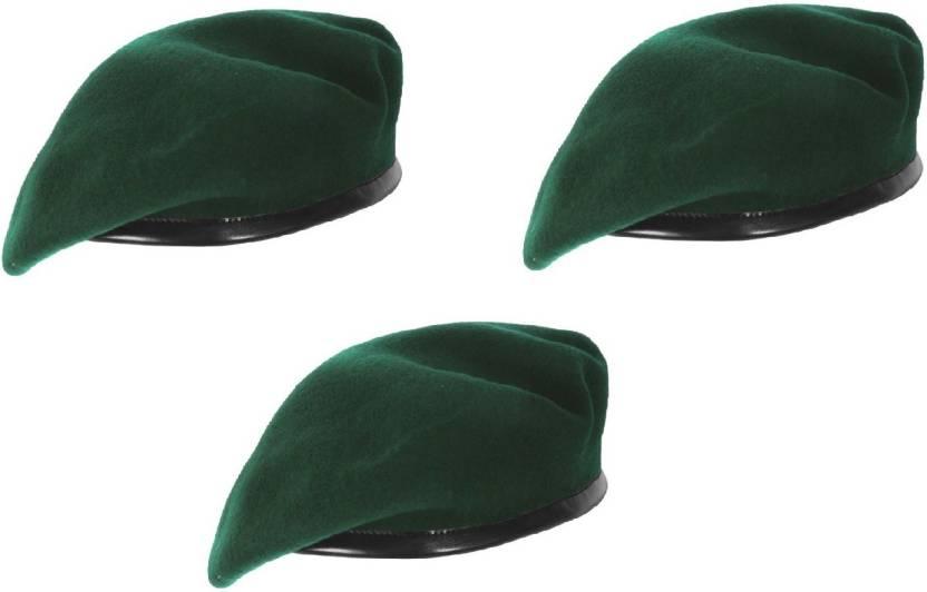 120ccb08074 CROSS JAGUAR Solid Unisex French Woolen Beret Cap