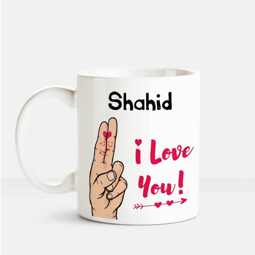 Huppme I Love you Shahid printed personalized coffee mug Ceramic Mug